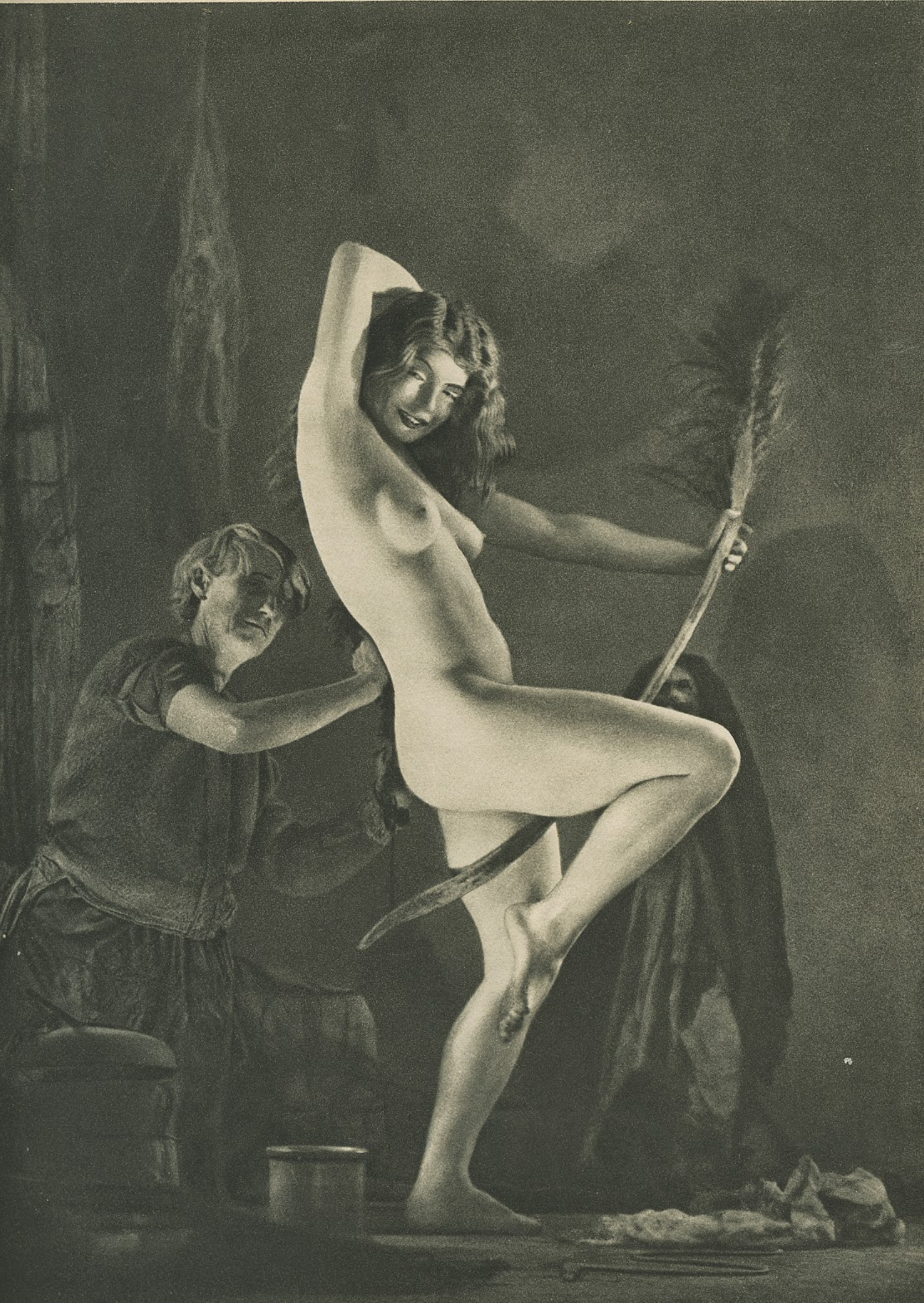 William Mortensen: Készülődés a boszorkányszombatra (fotó: Wikipedia)