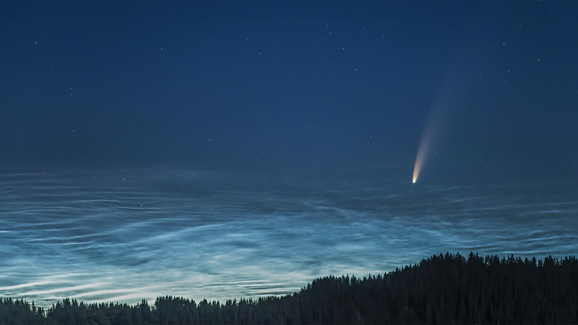 A Dunakanyarból készült csodás videó a NEOWISE üstökösről