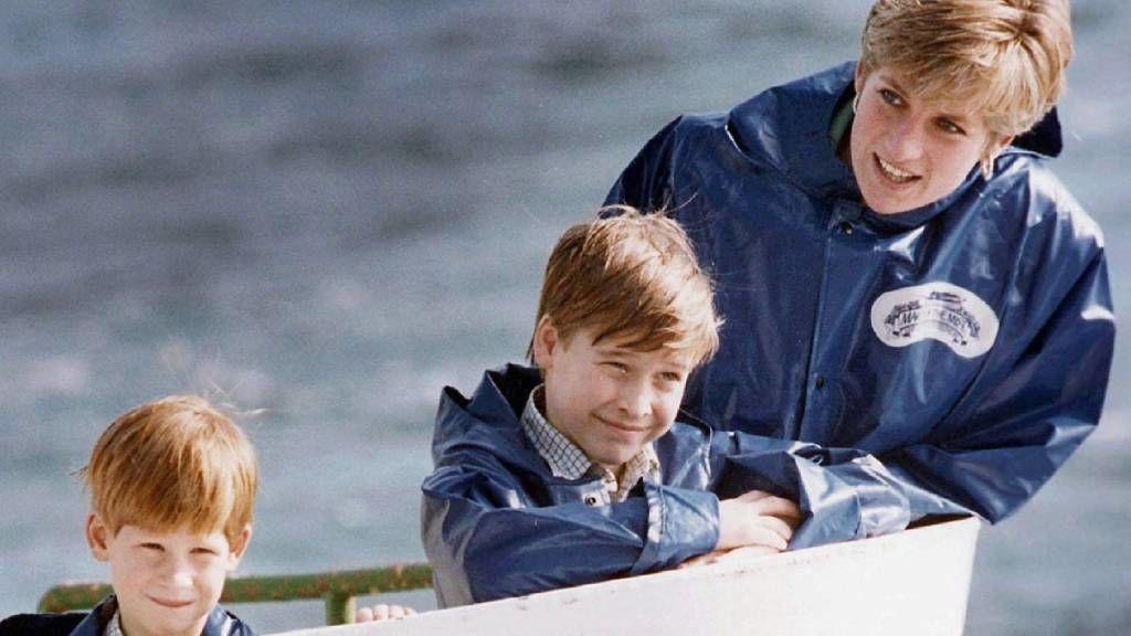 Vilmos herceg, Harry herceg és édesanyjuk Diana