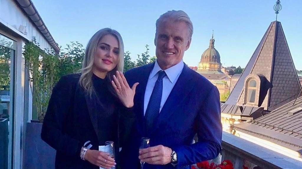 Dolph Lundgren és menyasszonya