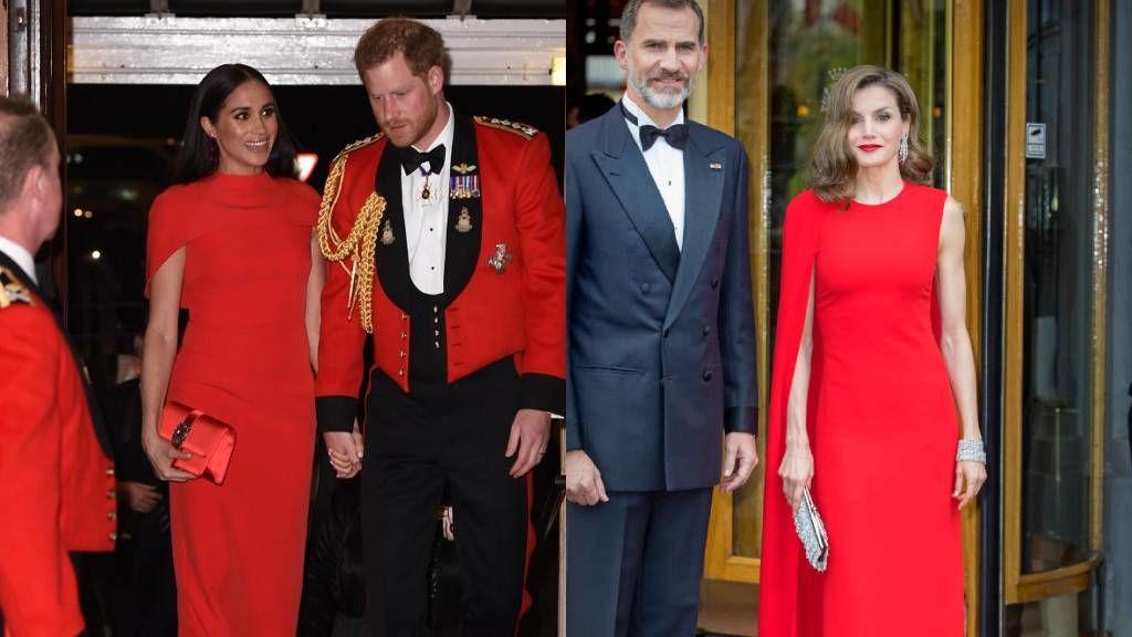 Meghan Markle, Letizia királyné egyforma ruhában