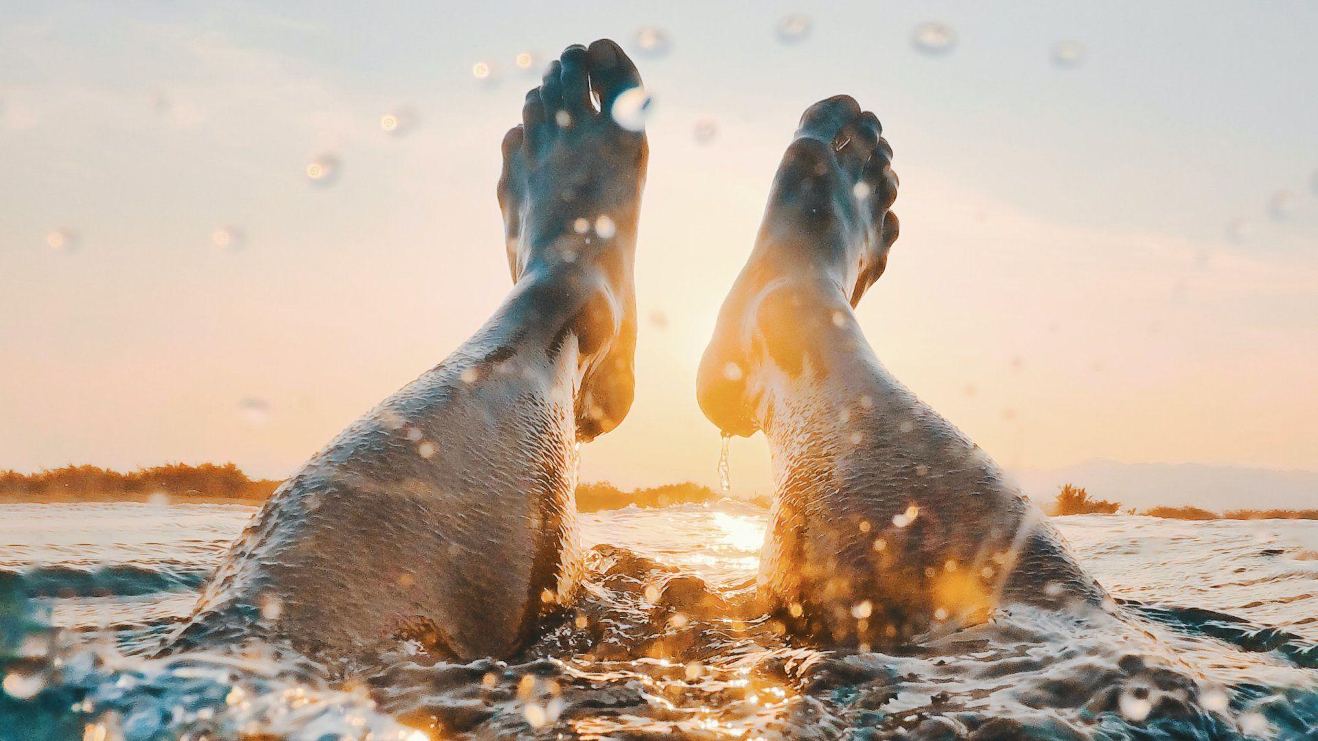 Fürdőzés a napsütésben