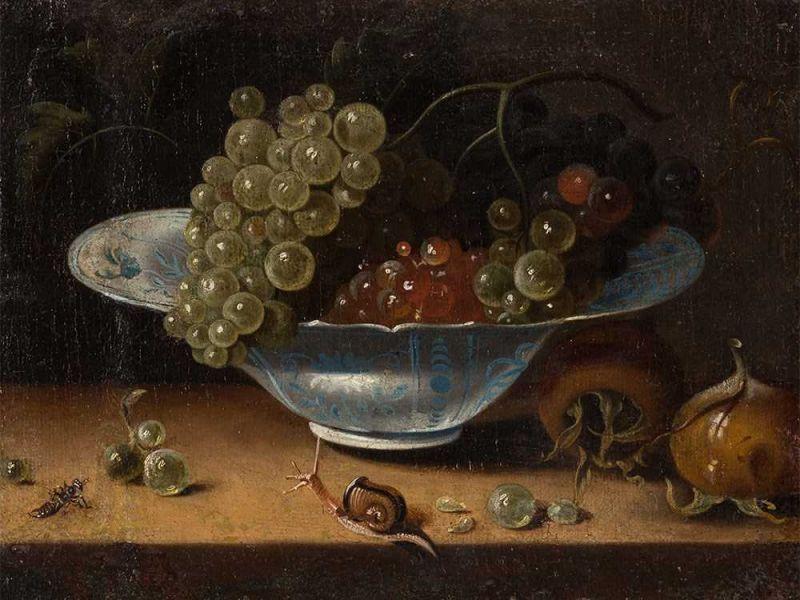 Jacob Marrel: Csendélet szőlővel, 1670-ből (forrás: Wikipedia)