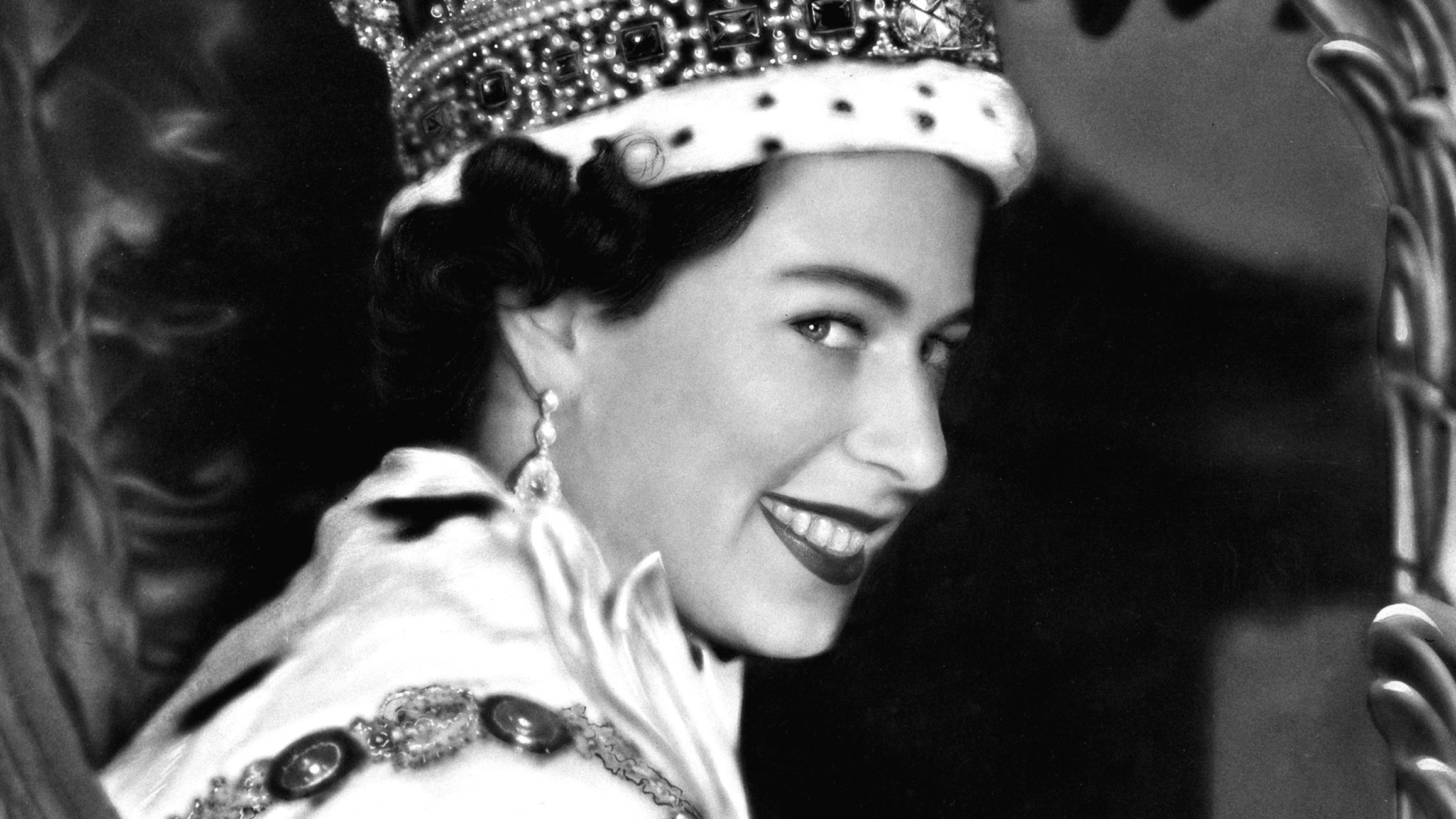 II. Erzsébet a koronázás napján