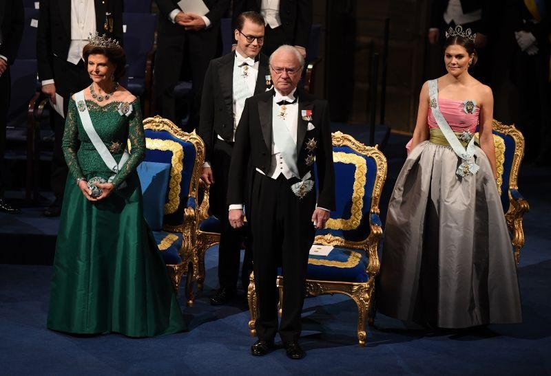 A svéd királyi család a 2018-as Nobel-gálán (Fotó: Pascal Le Segretain/WireImage)