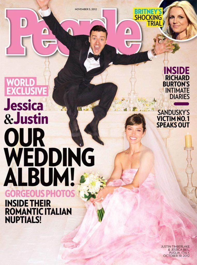 Jessica egy halvány rózsaszín Giambattista Valli ruhában vonult az oltárhoz
