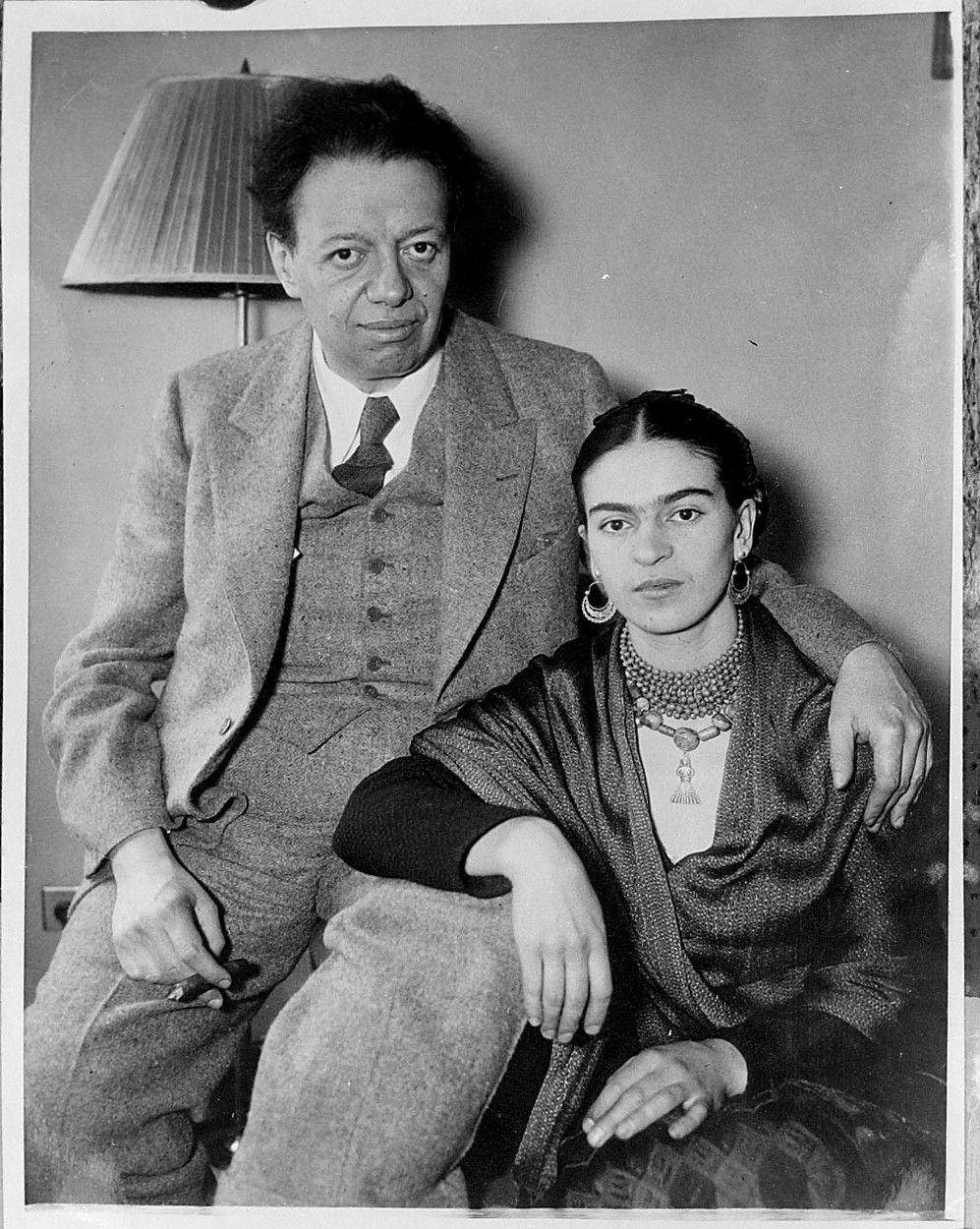 Diego Rivera az ünnepelt festőművész és felesége, Frida Kahlo, 1933-ban.