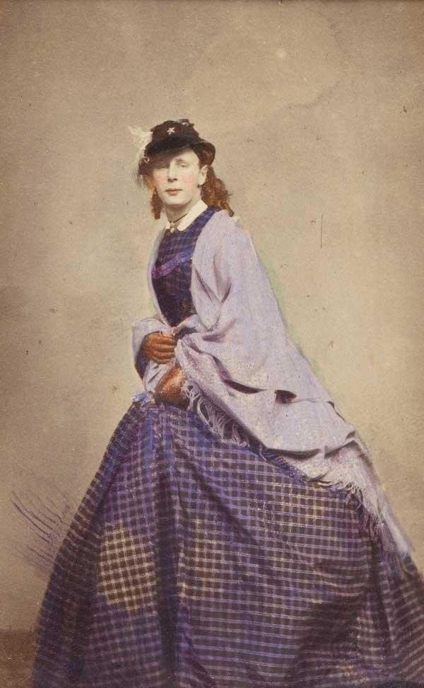 Ismeretlen viktoriánus drag queen (fotó: Wellcome Collection)