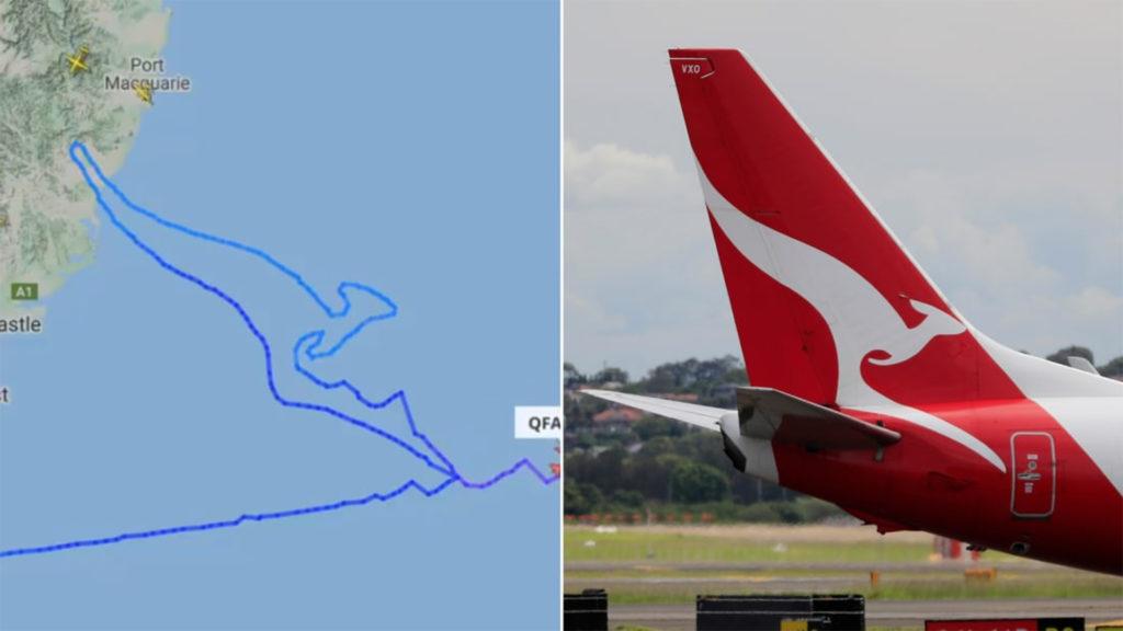 Kengurut rajzolt az égre a Qantas utolsó gépe