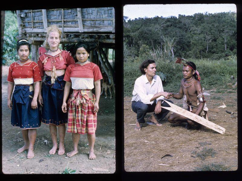 Shelly és Renato Rosaldo az ilongotok körében (fotó: npr.org/Renato Rosaldo)