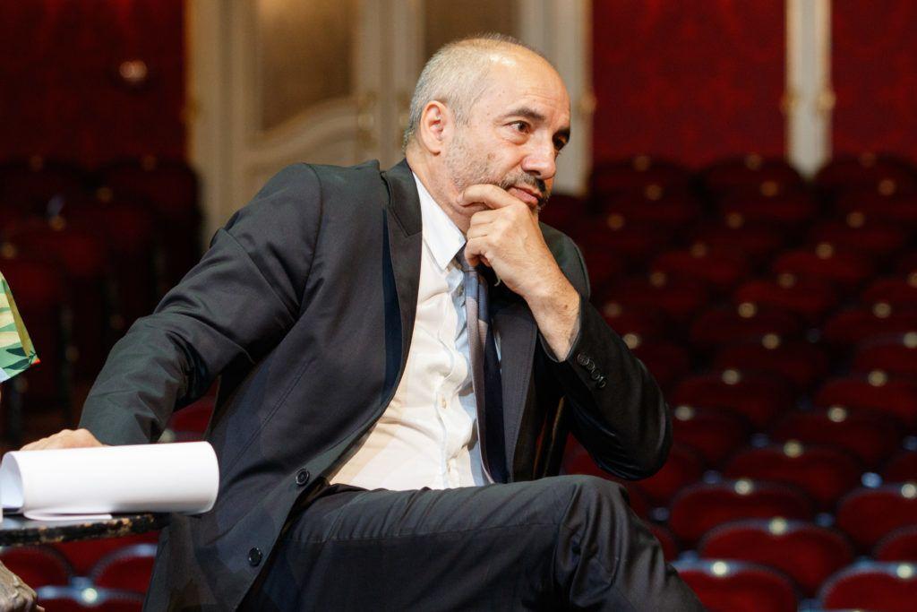 A Vígszínház évadnyitó sajtótájékoztatóján az új igazgató, Rudolf Péter .(Fotó:Vörös Szilárd)
