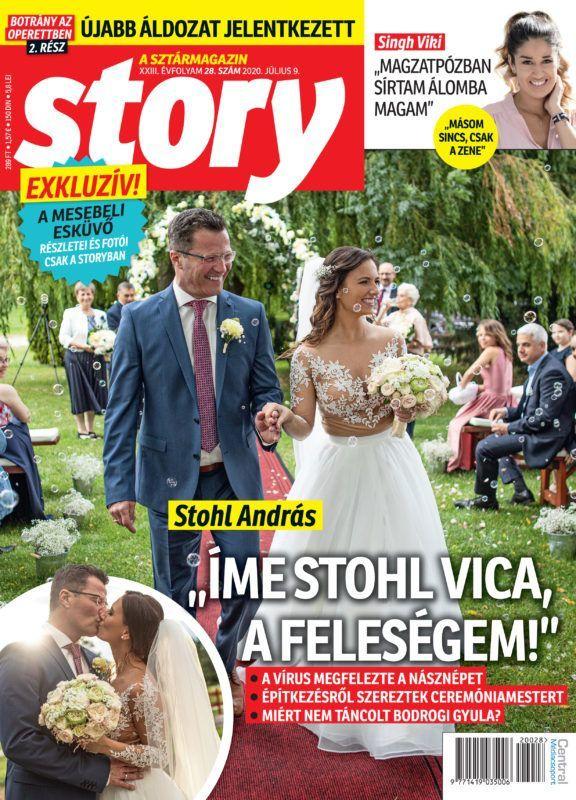 Stohl András és VIca esküvője
