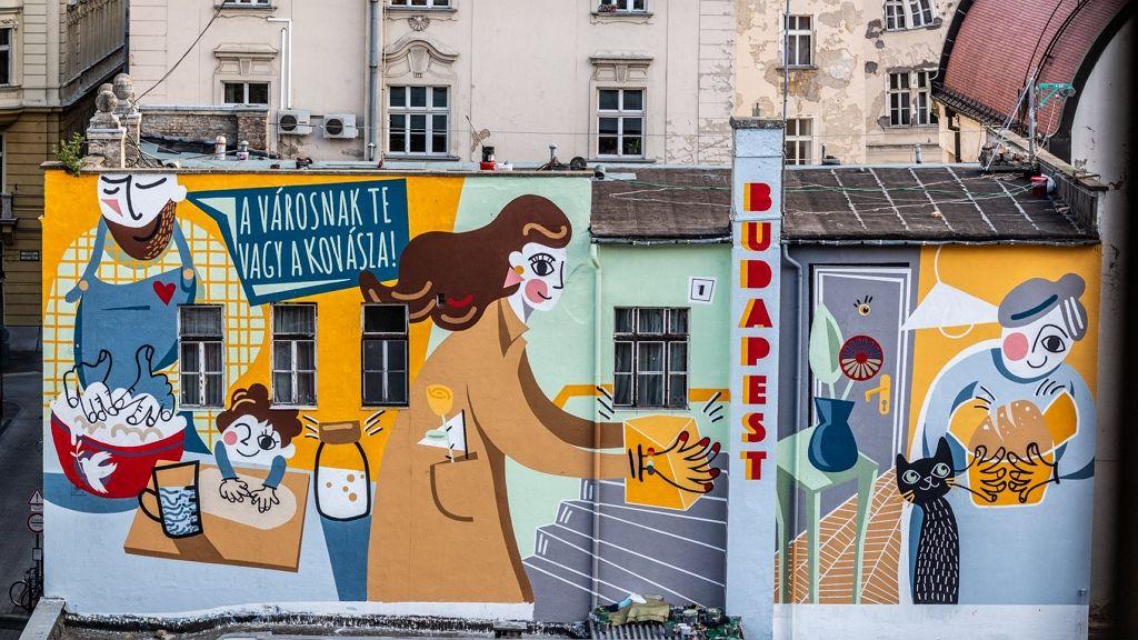 Street art alkotás került a tűzfalra