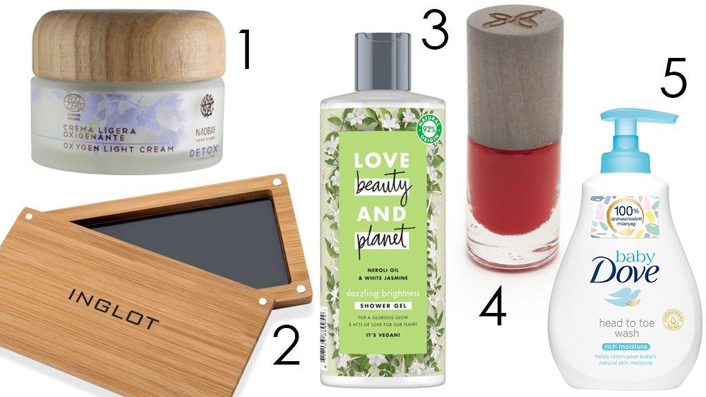 újrahasznosított és természetes csomagolású kozmetikumok