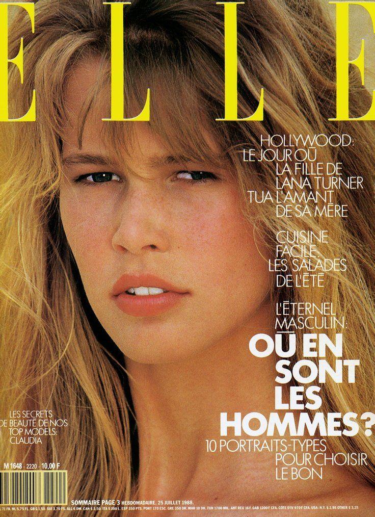 Az első ELLE címlap, 1988-ból