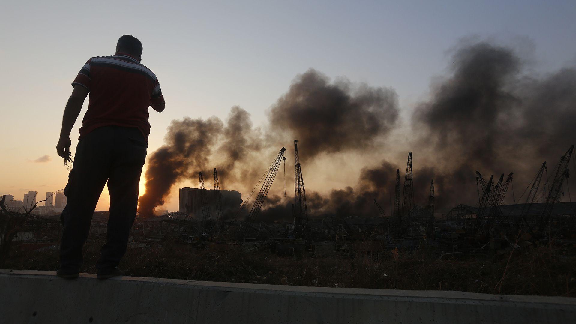 Elképesztő videó készült a bejrúti robbanásról