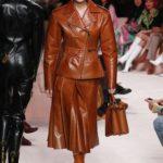 Fendi bőr kabát és szoknya