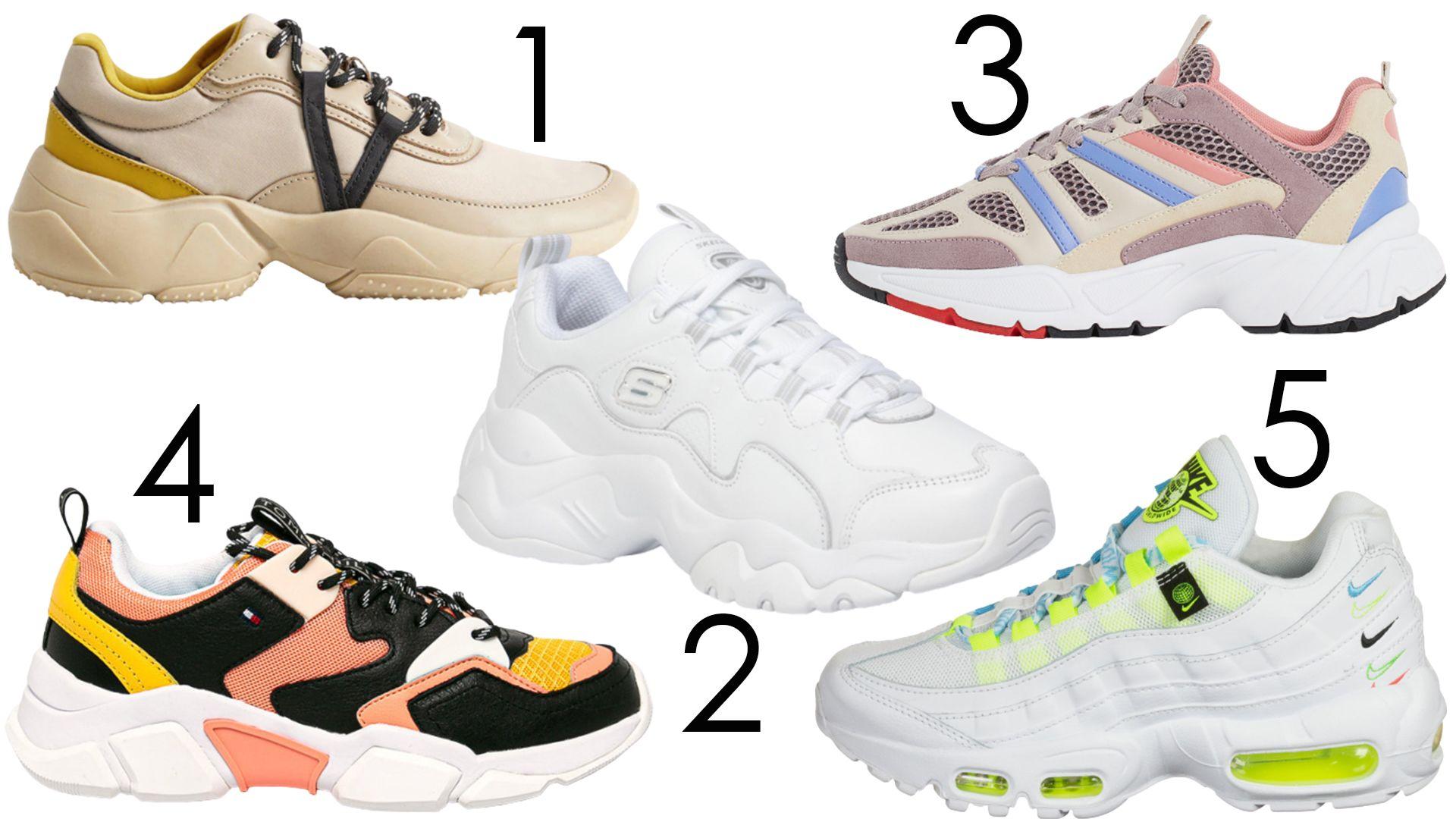chunky sportcipők