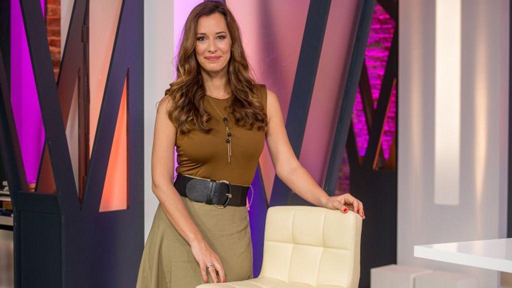 Demcsák Zsuzsa a Bréking című műsor forgatásán (Fotó: smagpictures.com)