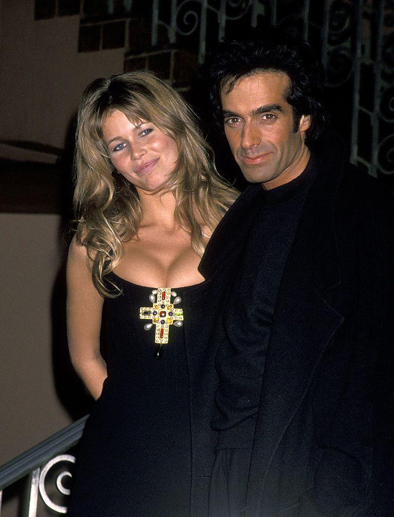 Claudia Schiffer és David Copperfield