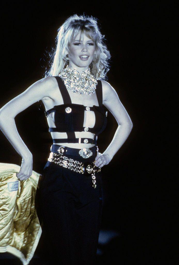 A Versace bemutatóján 1992-ben