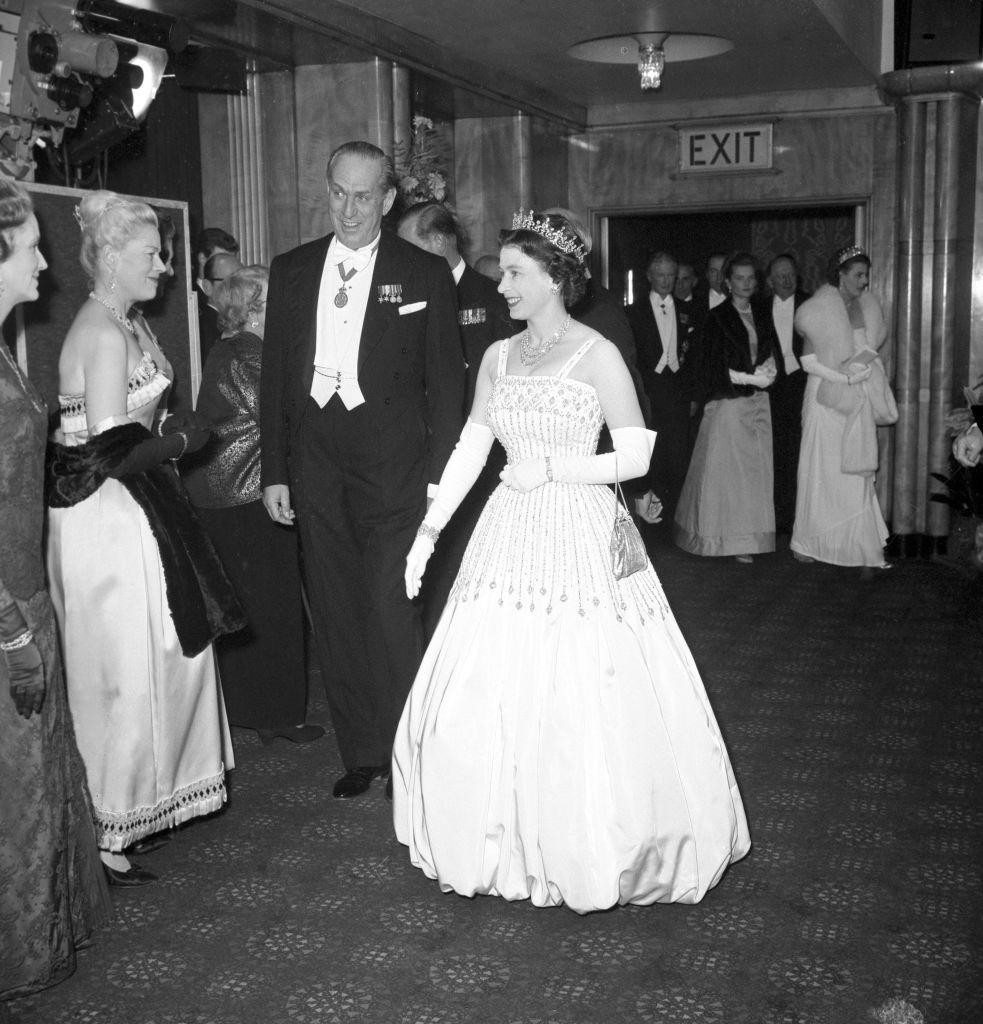 II. Erzsébet az Arábiai Lawrence premierjén