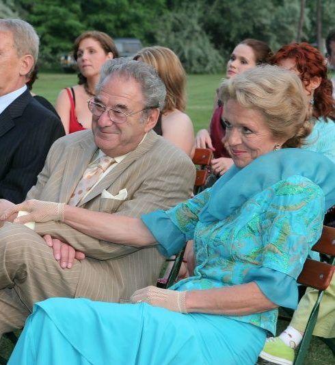 Szinetár Miklós és Hámori Ildikó 2005-ben a lányuk esküvőjén