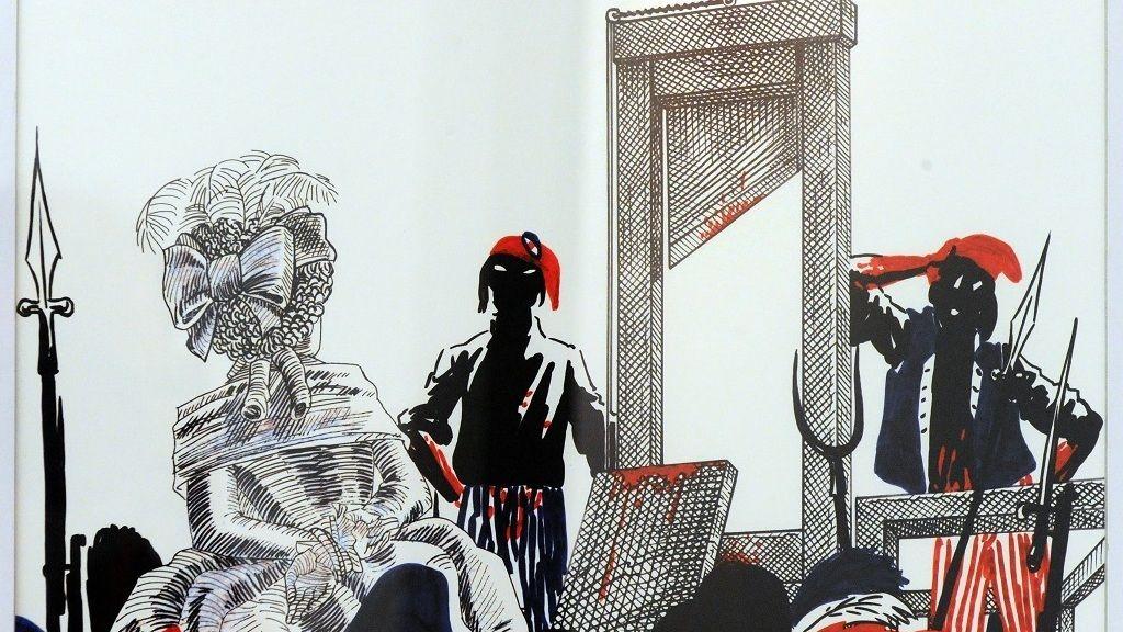 ankovics Marcell Kossuth-díjas grafikusművész, rajzfilmrendező Az ember tragédiája című 1997-es animációs filmjének illusztrációja - Fotó: MTI