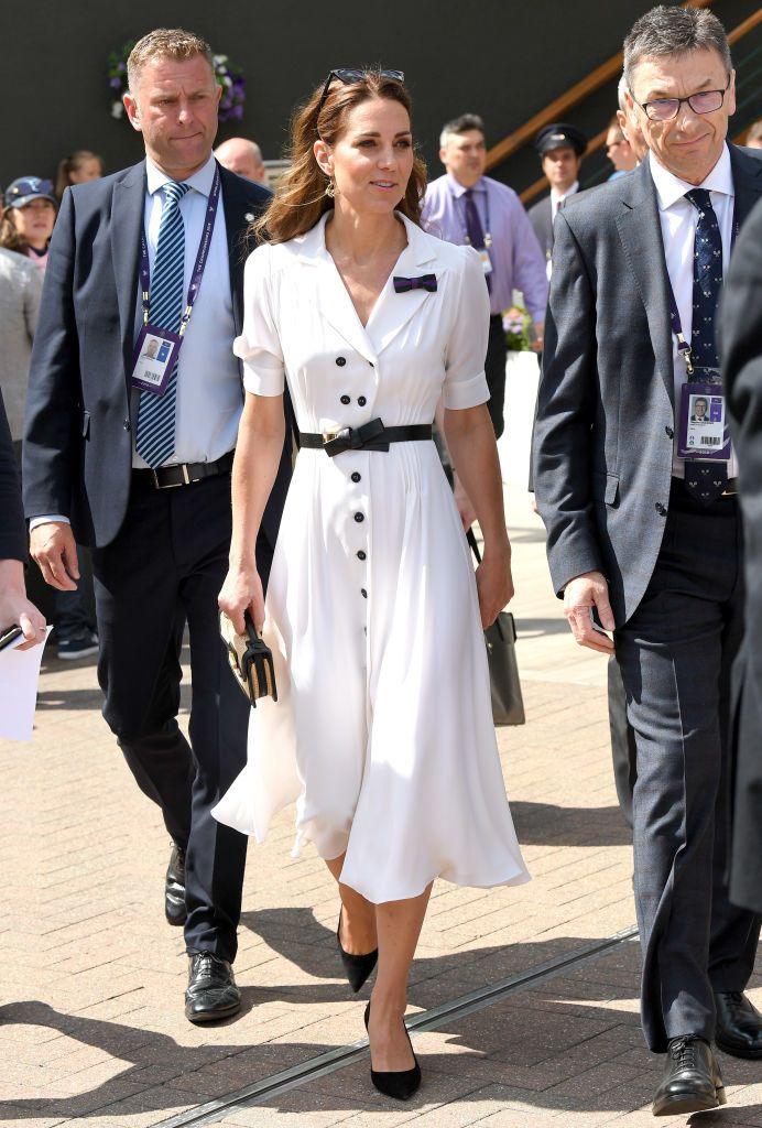 Katalin hercegné fehér ruháját már Wimbledonban is dicsérték (Fotó: Karwai Tang/Getty Images)