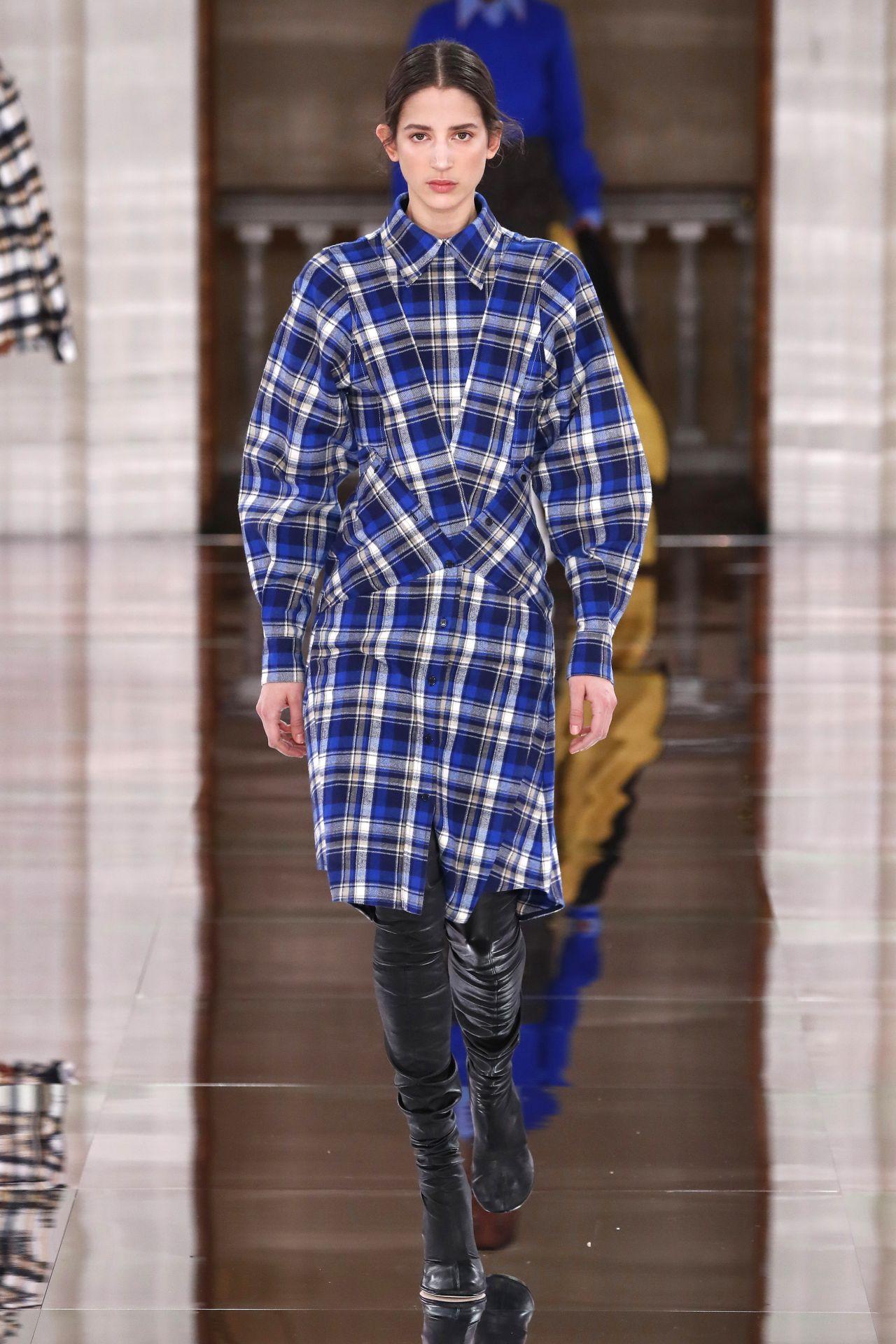 kockás kabát Victoria Beckham