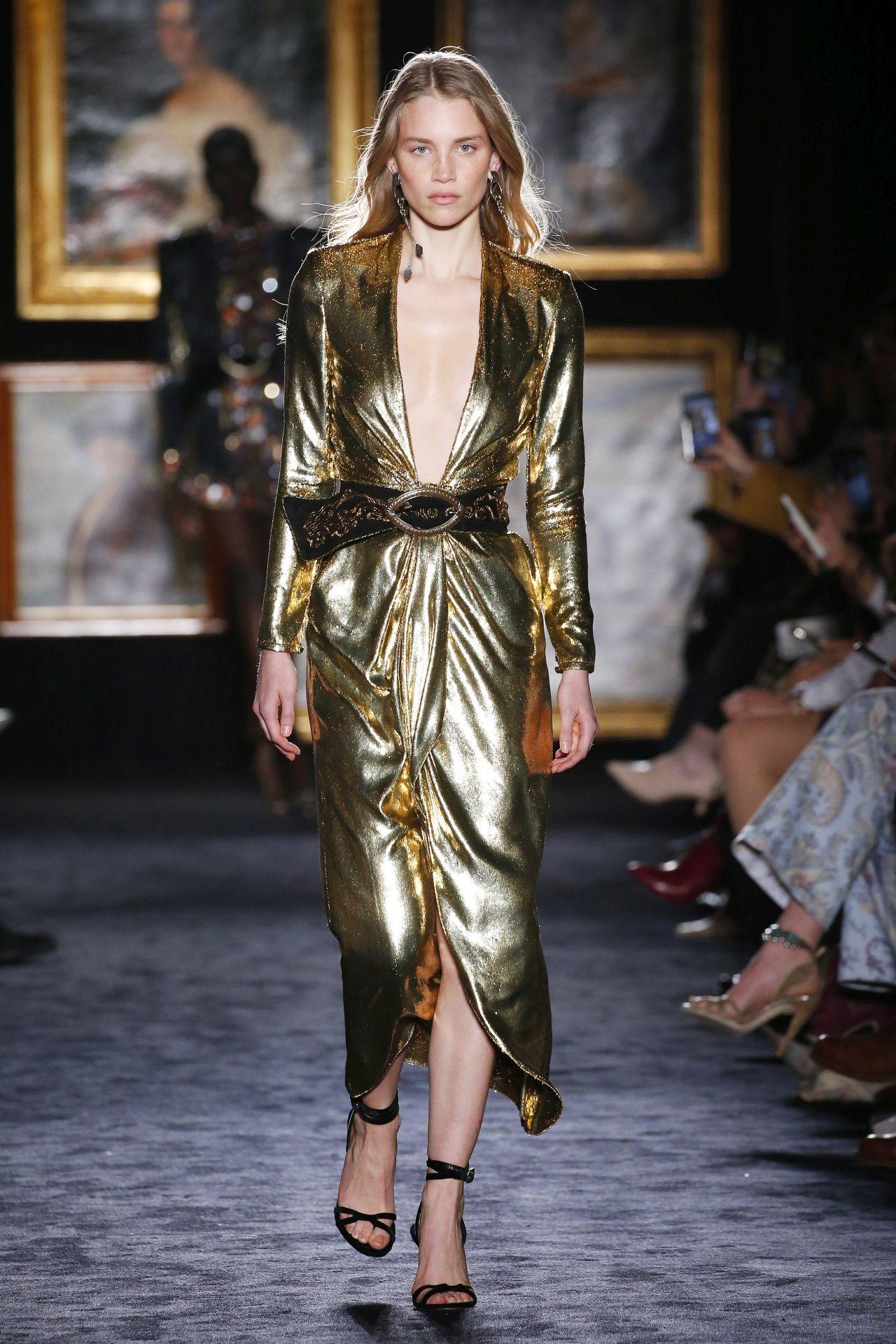 Aranyszínű alkalmi ruha Etro