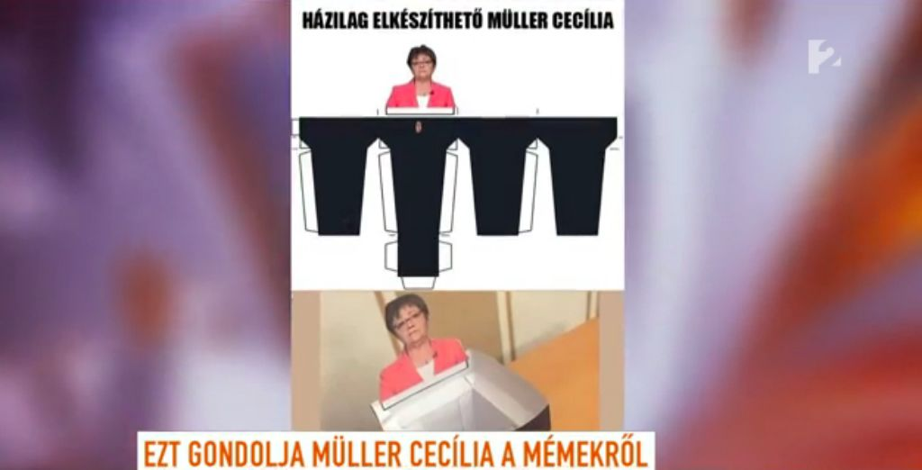 Müller Cecília kedvenc méme saját magáról