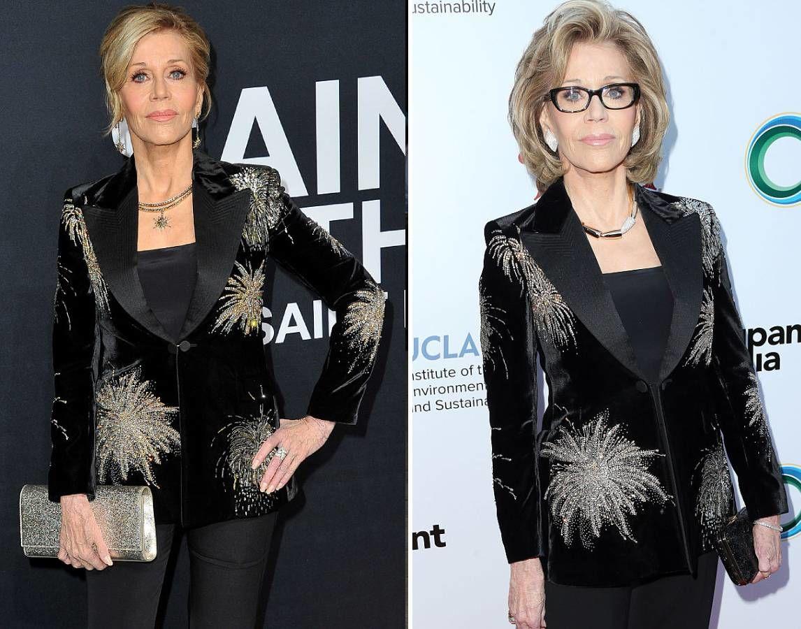 Jane Fonda ugyanabban a ruhában