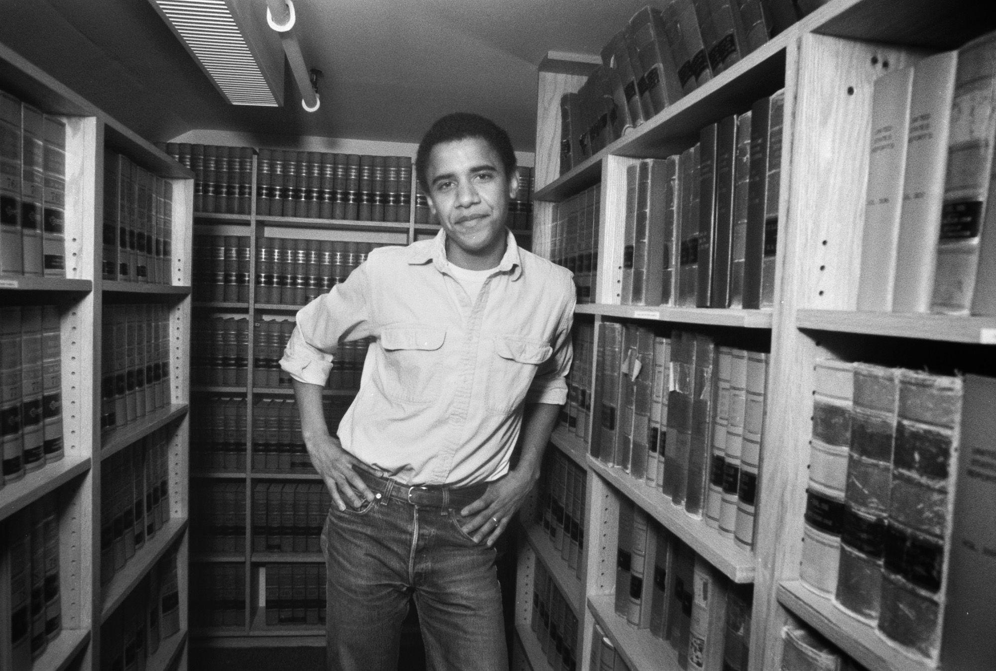 A Harvardon 1990-ben (fotó: Joe Wrinn/Harvard University/Corbis via Getty Images)