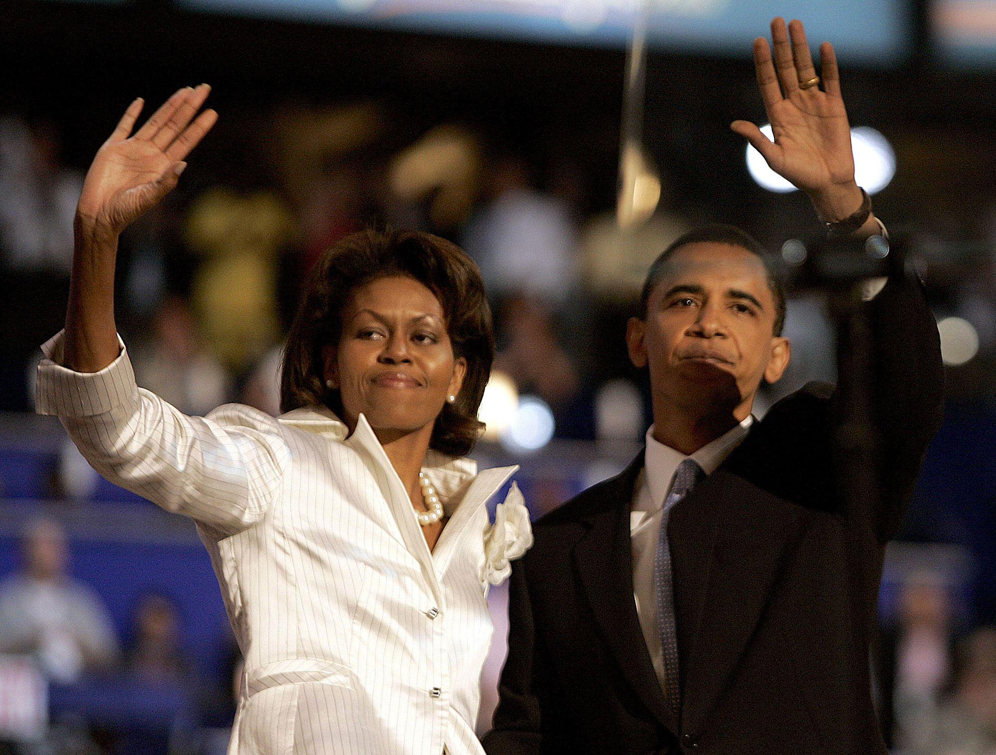 Obamáék a 2004-es demokrata nemzetgyűlésen (fotó: Jim Rogash/WireImage)