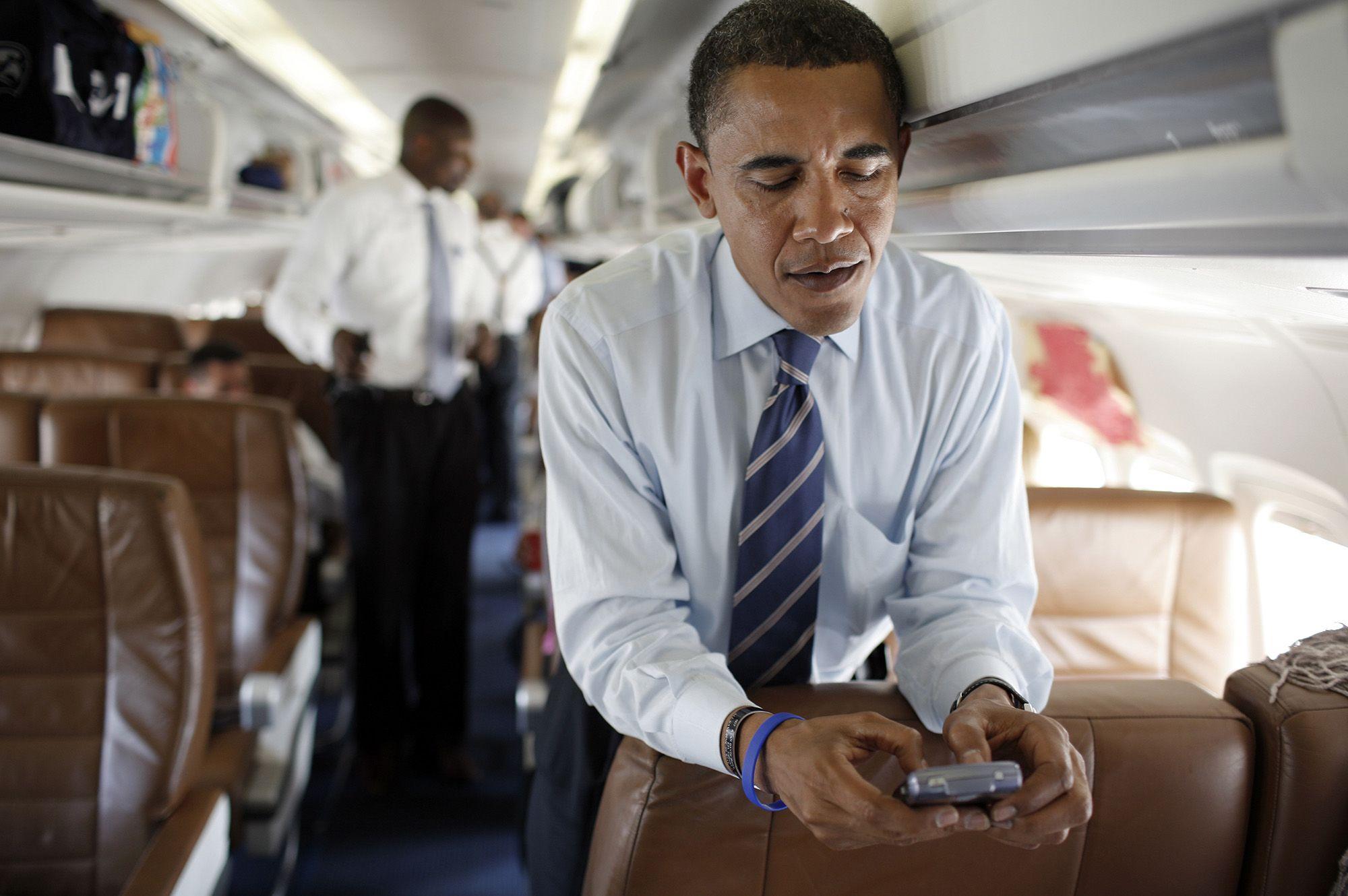 A 2008-as elnökségi kampány közepén (fotó: Charles Ommanney/Getty Images)