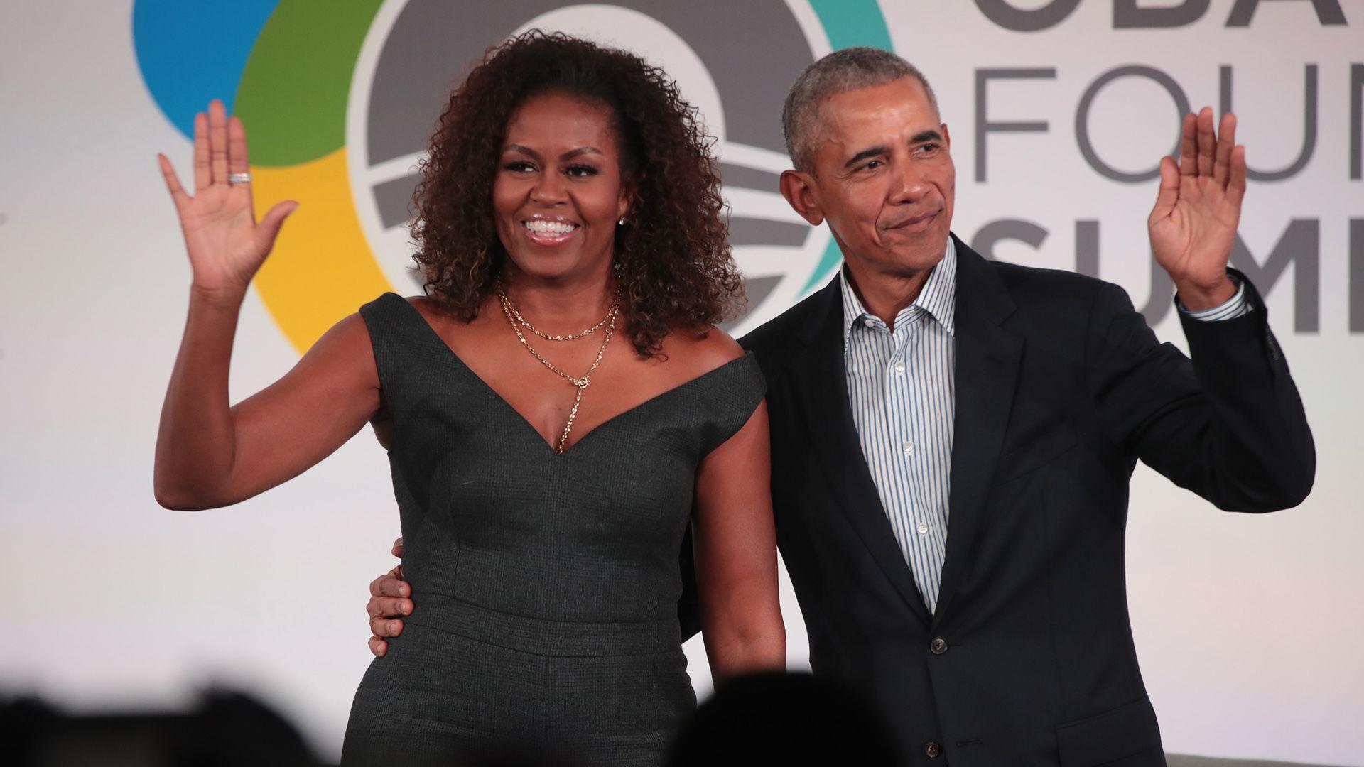 Cuki fotóval köszöntötte férjét Michelle Obama
