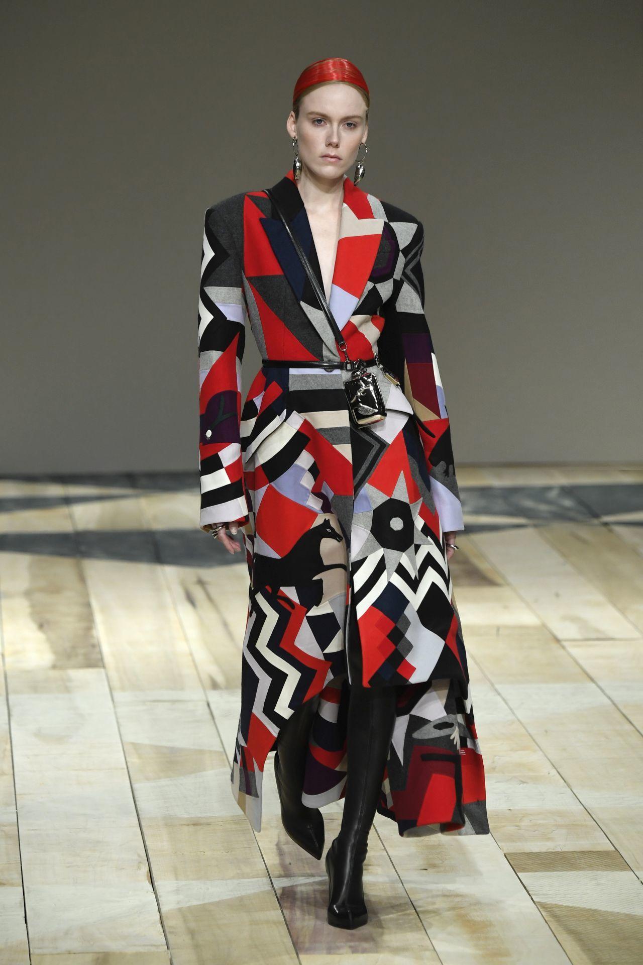 patchwork mintás kabát Alexander McQueen