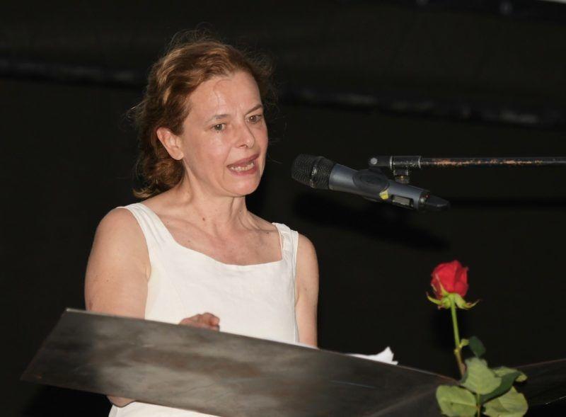Agnese Nano 2020 júliusában egy díjátadón (Fotó: Profimedia)