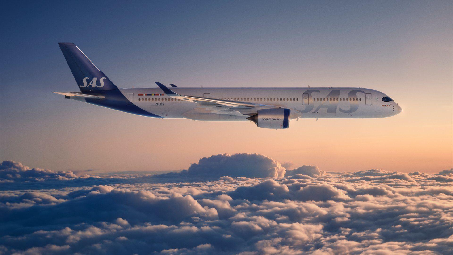 SAS légitársaság repülőgép