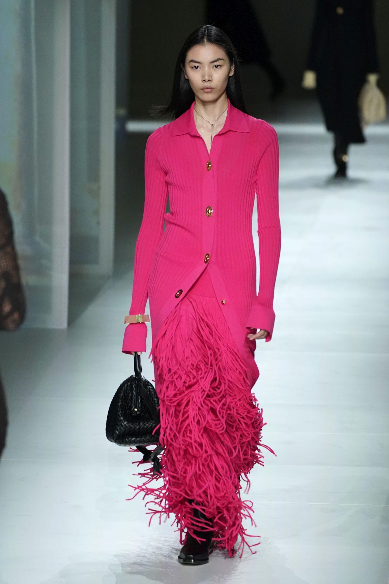 pink rojtos ruha Bottega Veneta