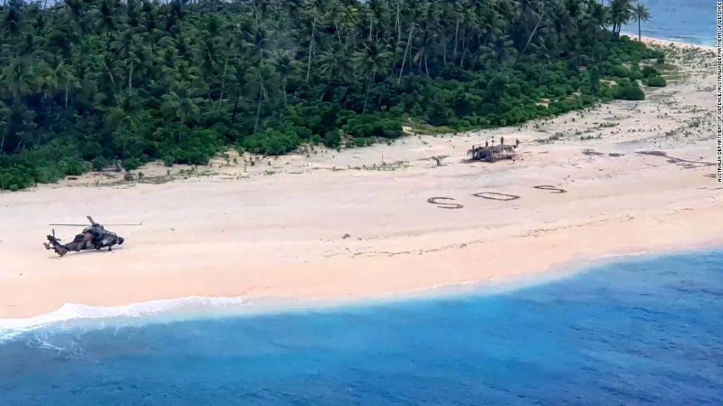 Három matrózt mentettek ki egy lakatlan szigetről
