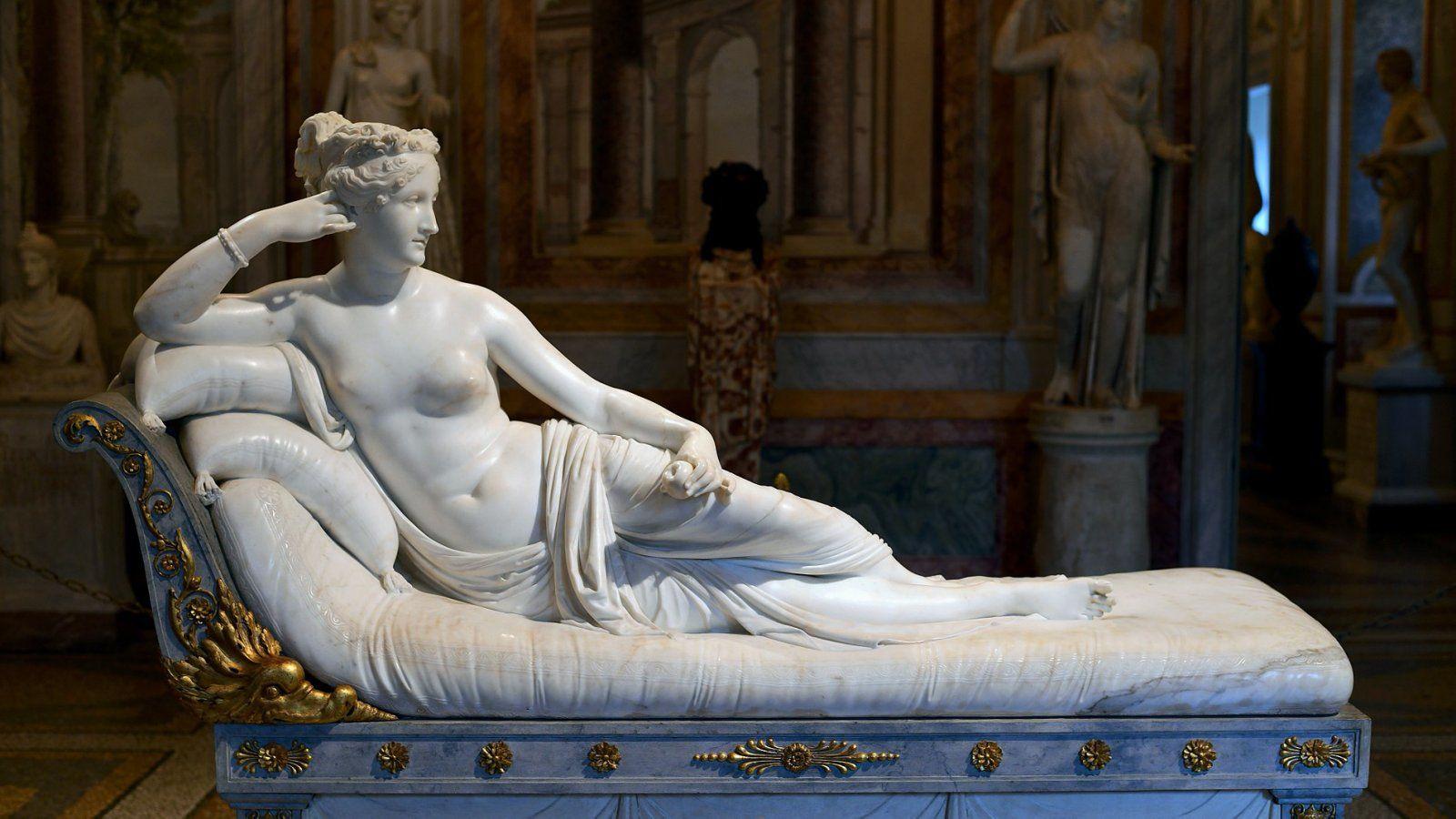 Antonio Canova szobra, a Paolina Borghese