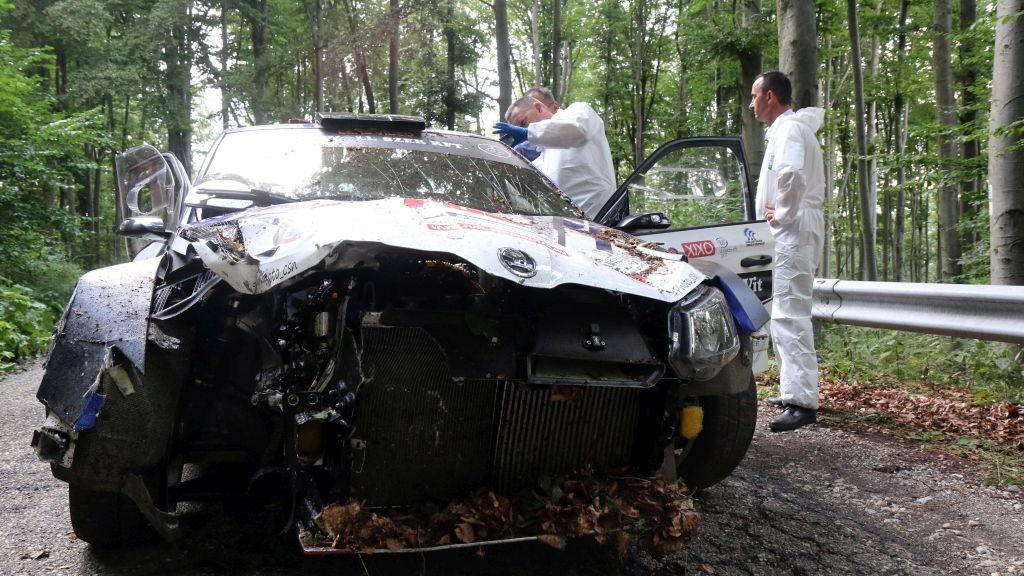 Tóth Zsolték összetört autója