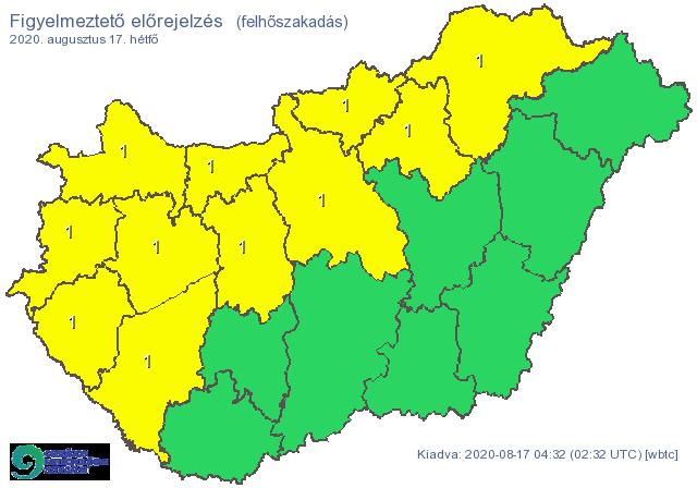 Zivatarzóna vonul végig az országon, kiadta a figyelmeztetést a meteorológia