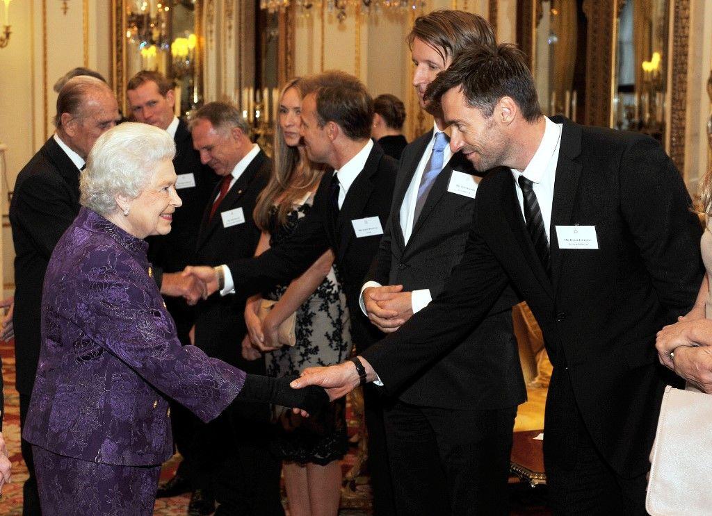 Hugh Jackman a Buckingham-palotában