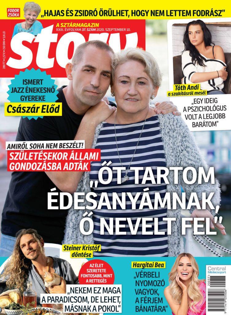 Story magazin legrisebb számában Tóth Andi, Császár Előd, Steiner Kristóf