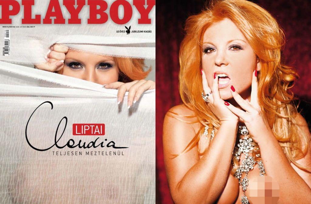 Liptai Claudia a Playboy címlapján