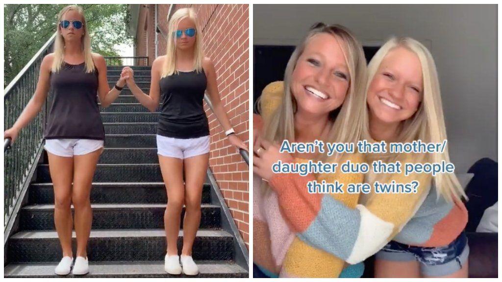 30 év korkülönbség van közöttük, de ikreknek nézik az anya-lánya párost