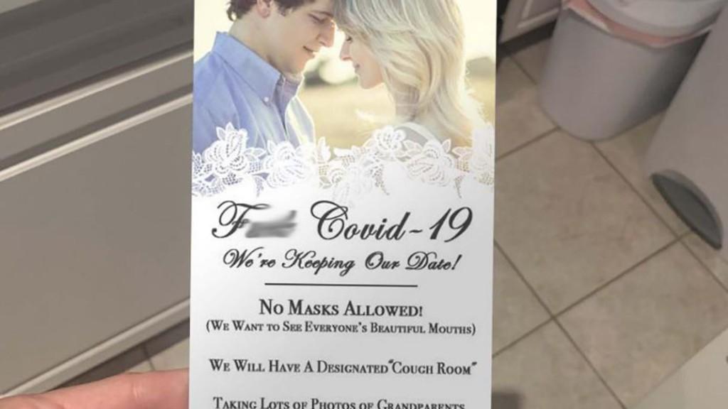 A botrányos esküvői meghívó (fotó: Twitter)